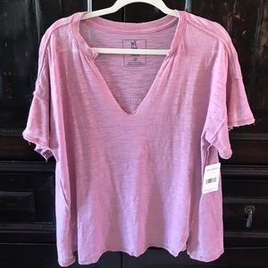 Free people pink T-shirt size small